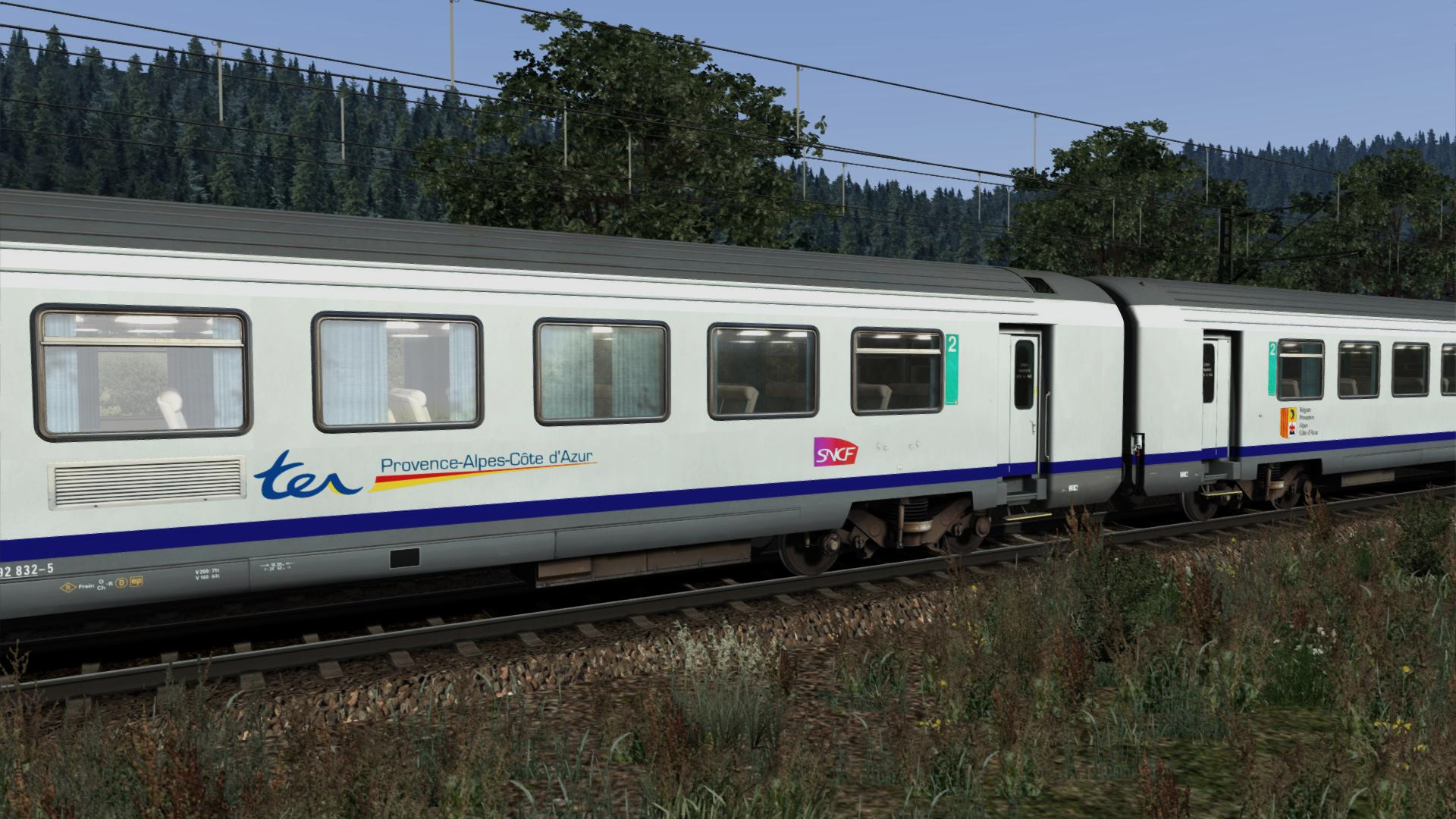 corail vtu coaches french regional lines simexpress